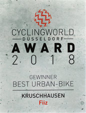 Cyclingworld Düsseldorf 2018 - Award für Best Urban Bike