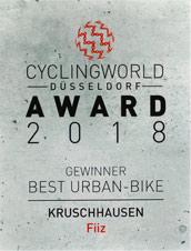 Cyclingworld Düsseldorf 2018 - Award für Best Urban Bike