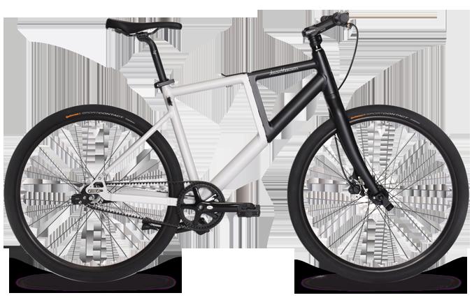 Faltrad Fiiz in Schwarz und Weiß